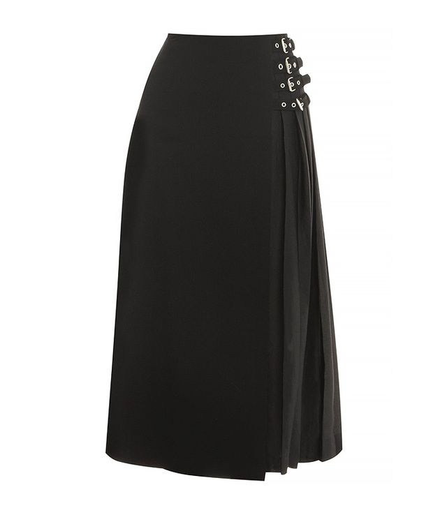 A.L.C. Booth Buckle Midi Skirt