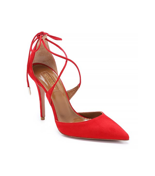 Aquazzurra Mathilde Sandals, Lipstick Red