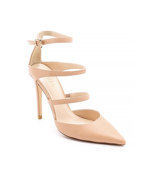 Raye Carrie Strappy Pumps, Nude