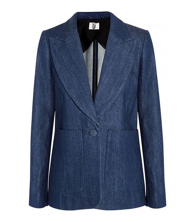 Topshop David Denim Blazer