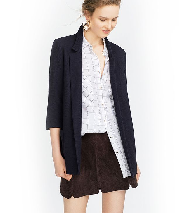 Zara Long Blazer, Navy