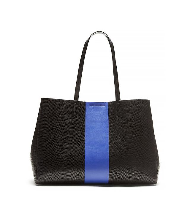 Banana Republic Larkin Racing-Stripe Tote, Black