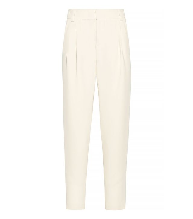 Alice + Olivia Cady Tapered Pants, Cream