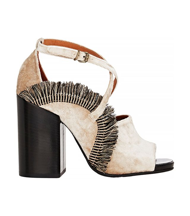 Dries Van Noten Fringed Crisscrossed Strap Sandals