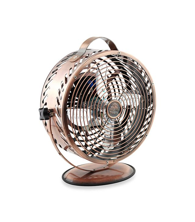 Himalayan Breeze Decor Chrome Fan In Bronze