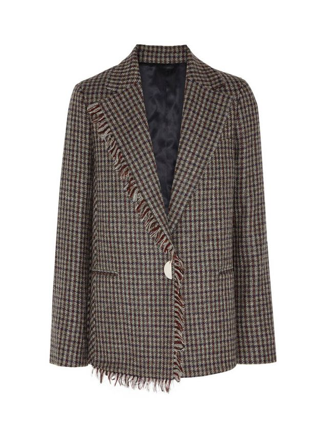 Acne Studios Checked Wool-Tweed Blazer