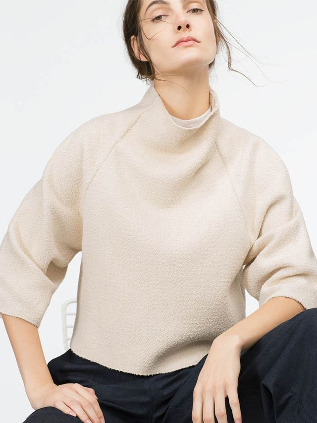 Zara Funnel Collar Top