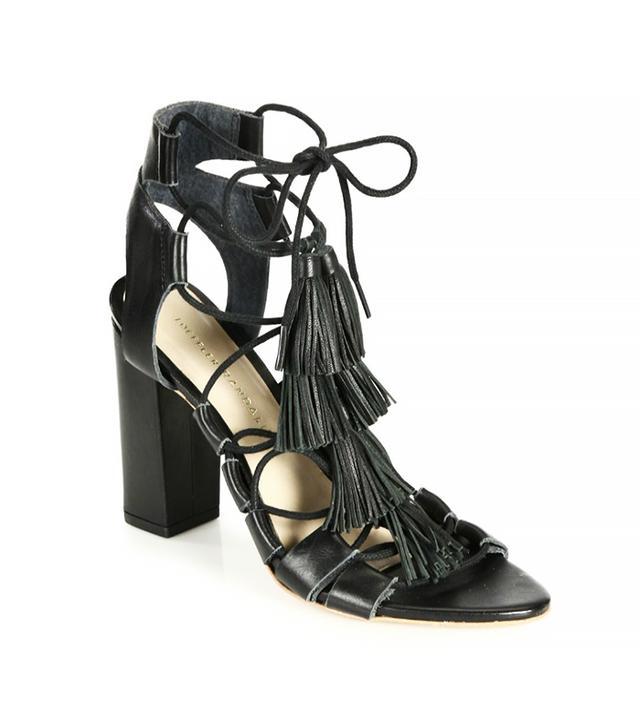 Loeffler Randall Tasseled Lace-Up Sandals