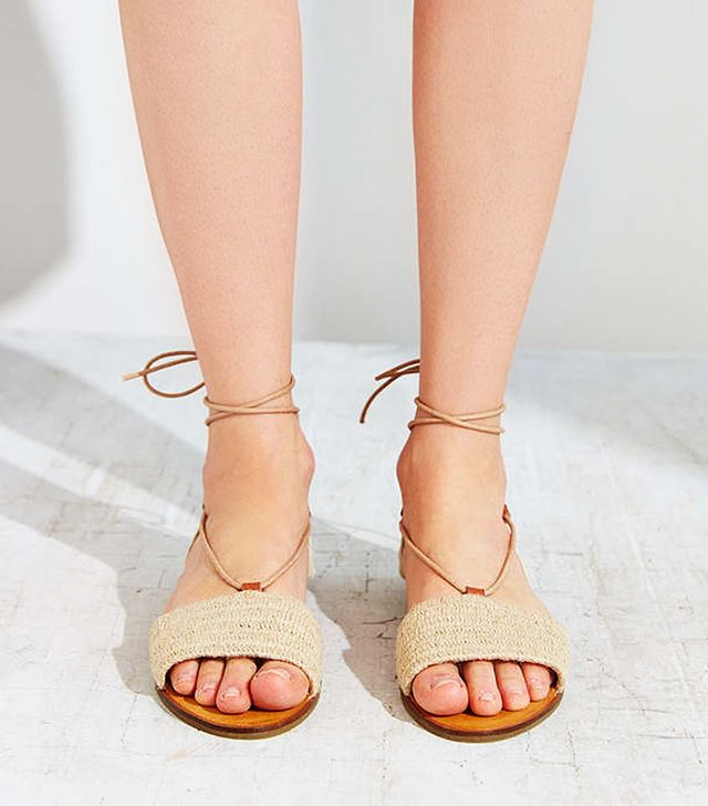 Urban Outfitters Ecote Lace-Up Slide Sandals