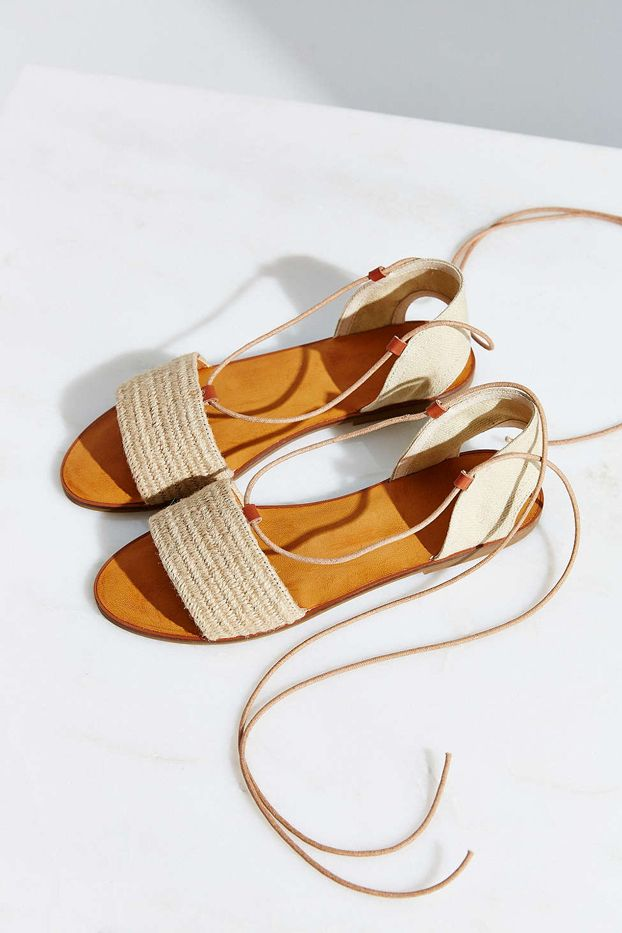 Ecote Lace-Up Slide Sandals