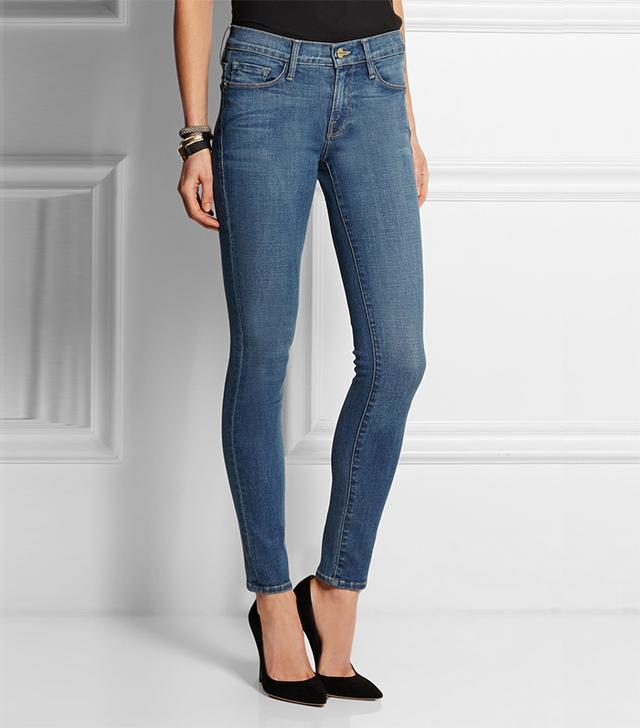Frame Denim Denim Le Skinny de Jeanne Mid-Rise Jeans