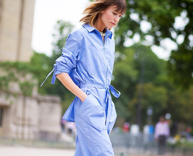 On Ziourova: Rosie Assoulin jumpsuit