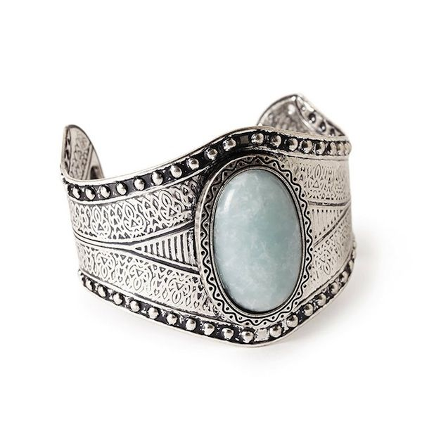 Forever 21 Etched Faux Stone Cuff