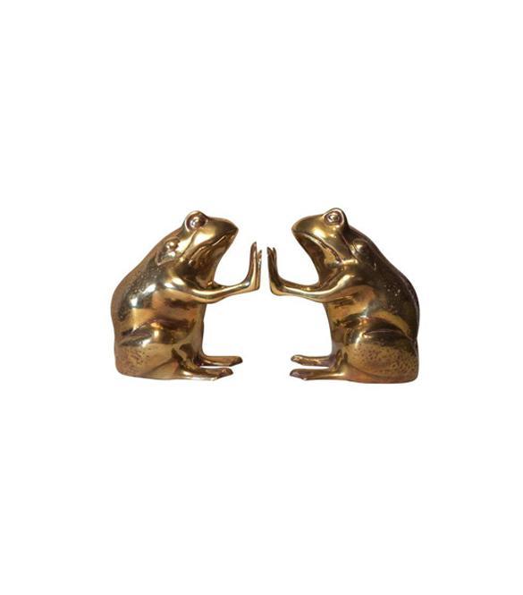 Chairish Chairish Brass Frog Bookends