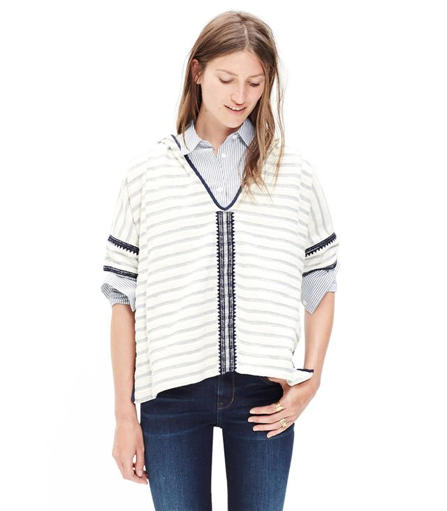 Madewell Embroidered Hoodie Sweatshirt