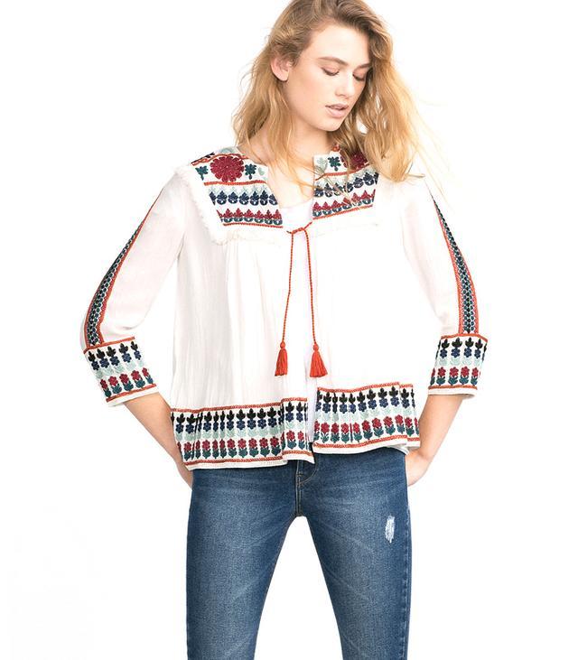 Zara TRF Embroidered Jacket