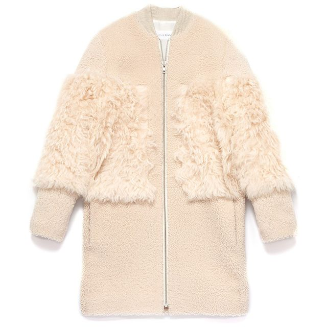 Loeffler Randall Shearling Blocked Coat