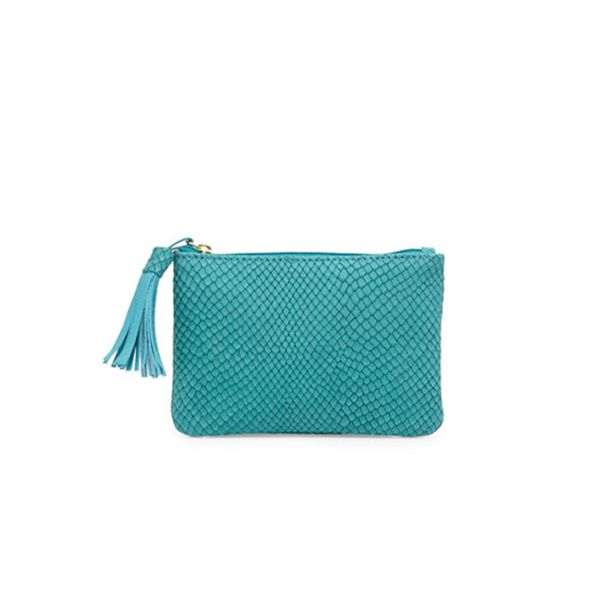 Neiman Marcus Snake-Embossed Coin Purse