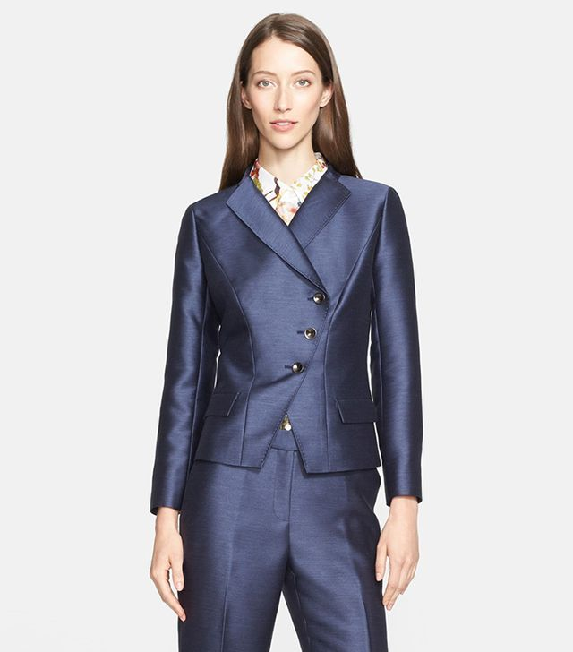 Nordstrom Signature and Caroline Issa Asymmetrical Button Jacket