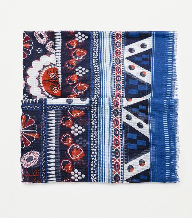 Zara Basic Floral Print Scarf