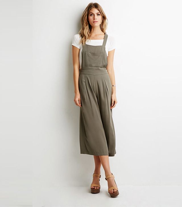 Forever 21 Pleated Wide-Leg Overalls