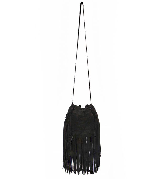 Boohoo Boutique Christina Suede Effect Fringed Bag