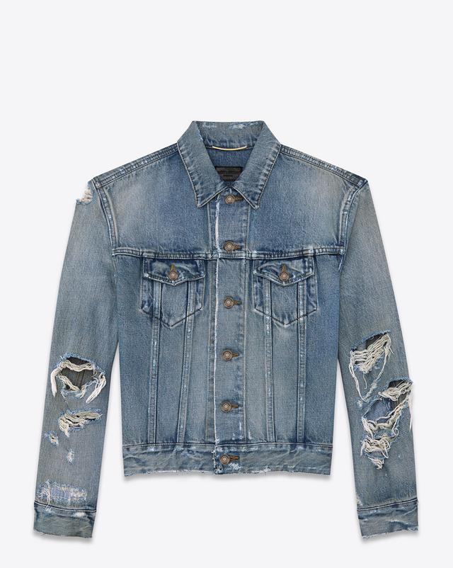 Saint Laurent Original Destroyed Jean Jacket
