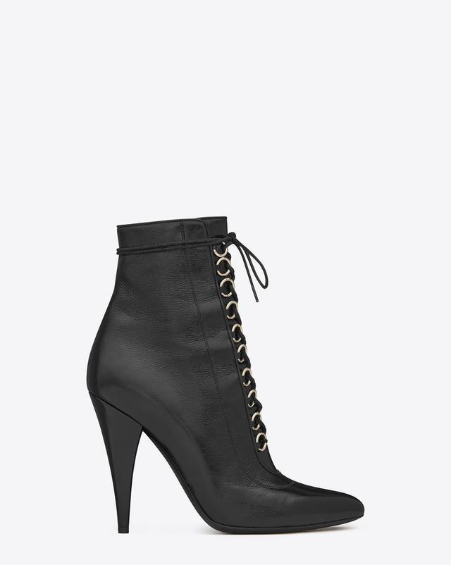 Saint Laurent Fetish 105 Lace-Up Ankle Boots