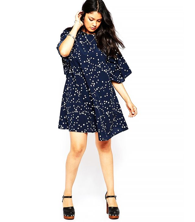 ASOS Curve Swing Dress in Star Print