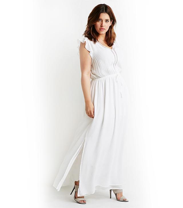 Forever 21 Crochet-Trimmed Maxi Dress