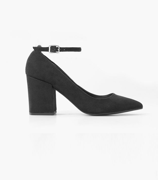 Mango Ankle-Cuff Pointed Toe Shoes