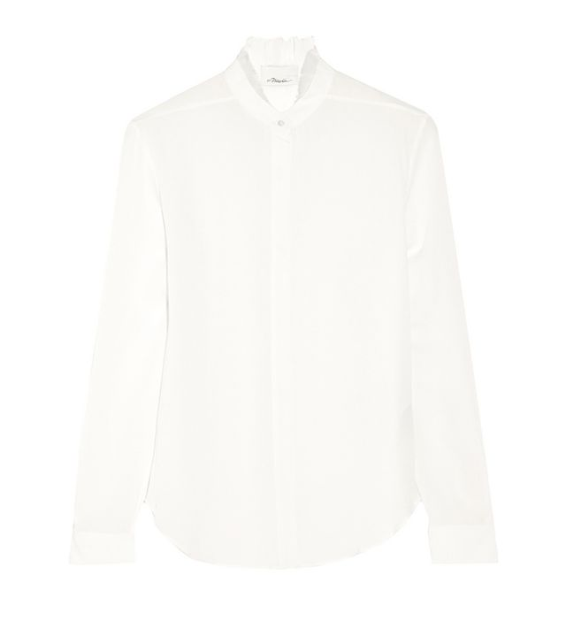 3.1 Phillip Lim Ruffle-Trimmed Silk-Georgette Blouse