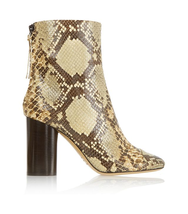 Isabel Marant Grover Snake-Effect Leather Boots