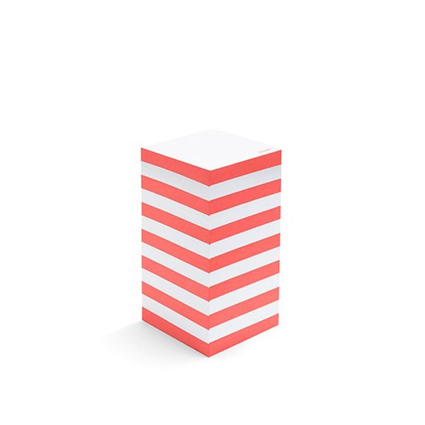 Poppin Coral Striped Memo Tower