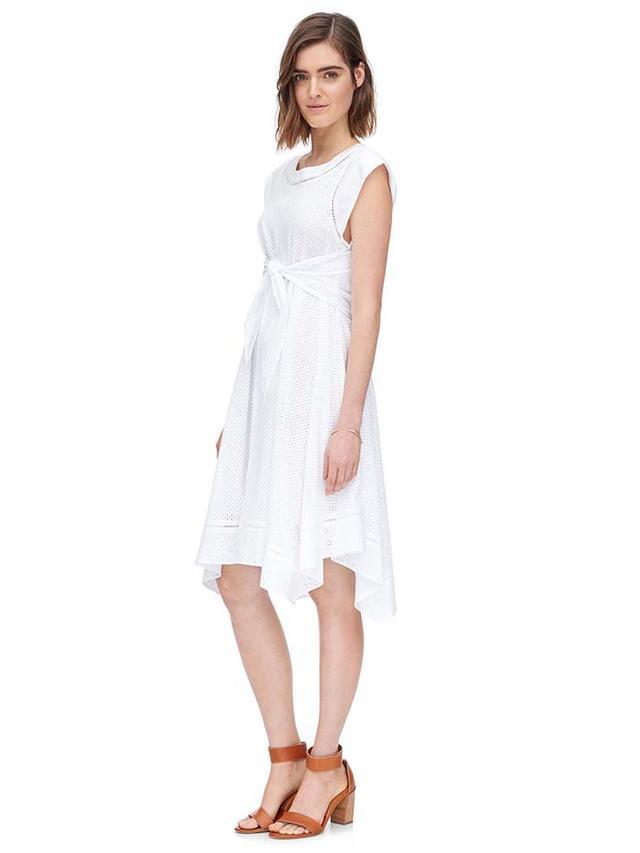 Rebecca Taylor Mixed Eyelet Dress