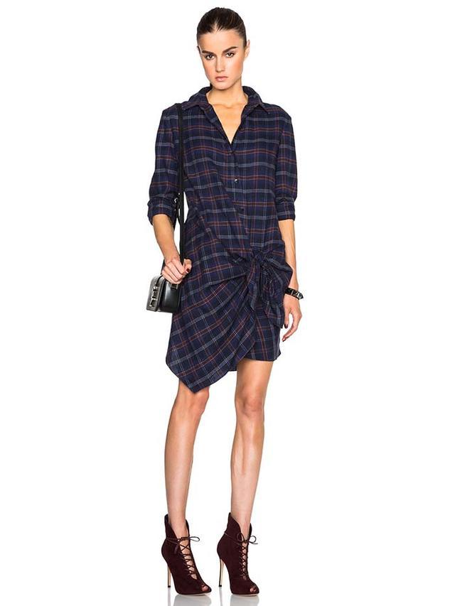 Thakoon Addition Thakoon Flannel Side Tie Dress