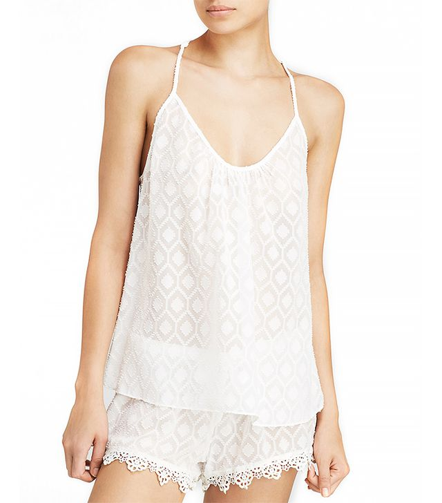 In Bloom by Jonquil Mosaic Chiffon and Crochet Lace Cami Set