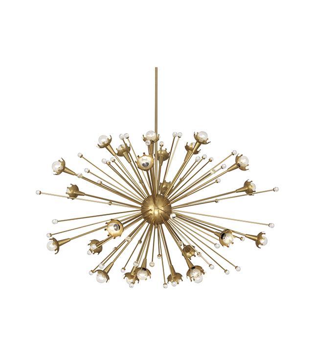 17 gorgeous rooms where lighting steals the show mydomaine au jonathan adler giant sputnik chandelier aloadofball Choice Image