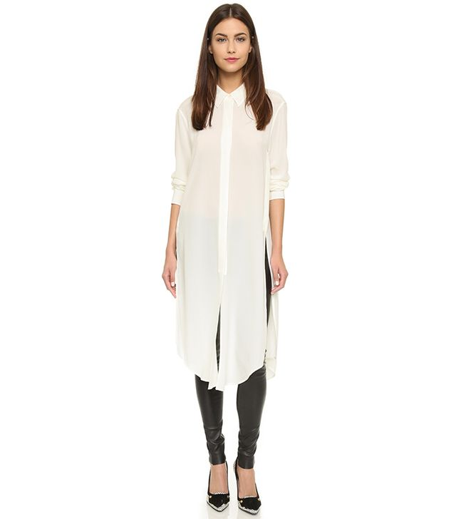 Equipment Pascal Elongated Silk Tunic