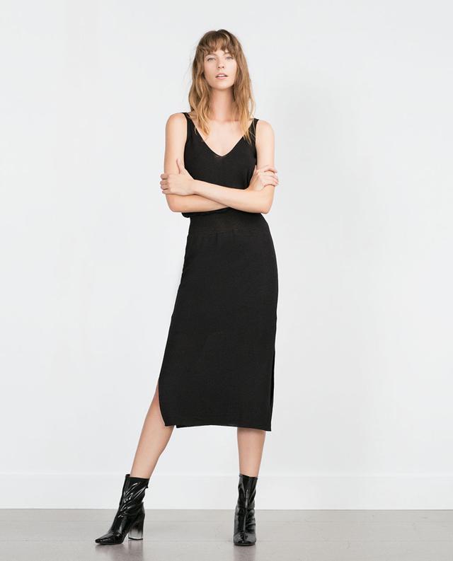 Zara Long Striped Dress