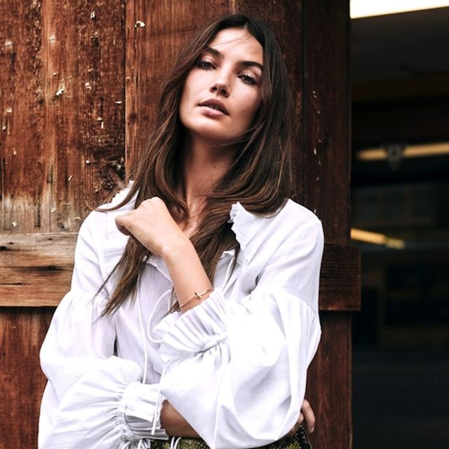 Lily Aldridge Takes On '70s-Inspired Fall Trends for The Edit