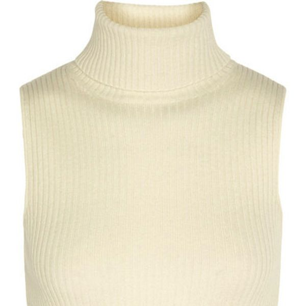 Topshop Unique Natalie Ribbed Wool and Cashmere-Blend Top