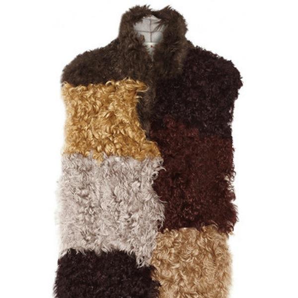 Marni Patchwork shearling vest