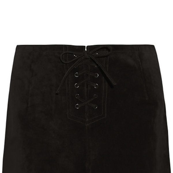 Alexa Chung for AG Jeans The Mabel Lace-Up Suede Shorts