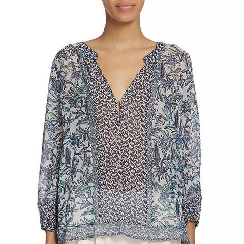 Yulisa Printed Silk Blouse