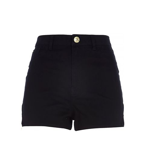 Black High Waisted Nori Denim Shorts