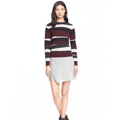 Broken Stripe Merino Wool Sweater