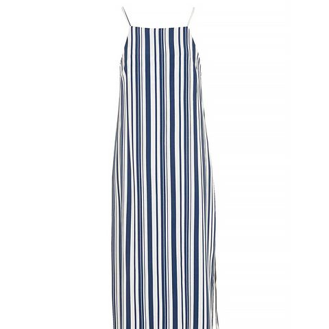 Deck Chair Striped Midi Dress