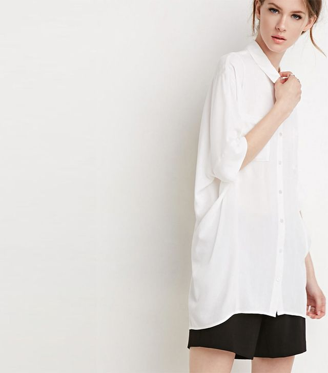 Forever 21 Oversized Button-Back Shirt