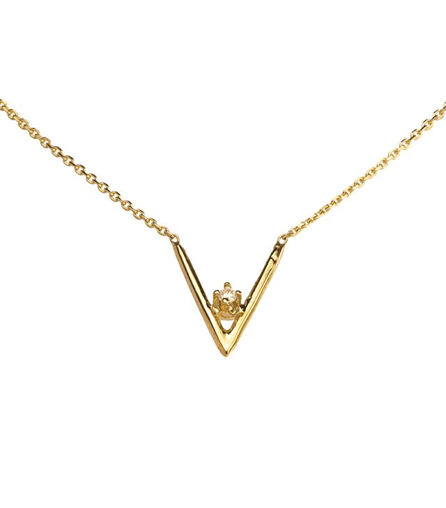 Wwake Diamond Triangle Necklace